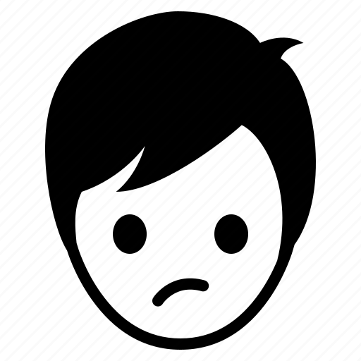 avatar, boy, emotion, face, man, wonder icon