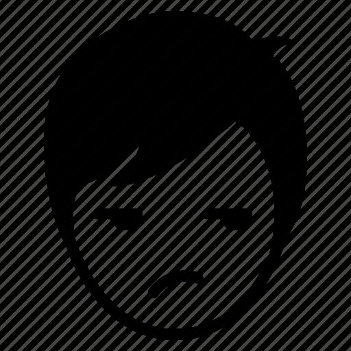 avatar, boy, emotion, face, glare, man, wonder icon