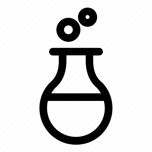 beaker, chemistry, experiment, flask, round bottom flask, science, science equipment icon