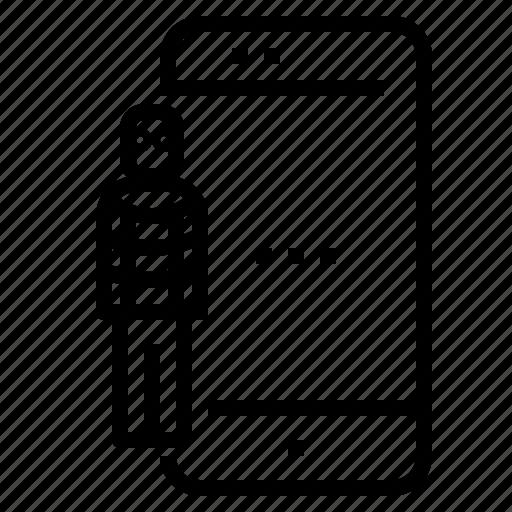hacker, smartphone icon