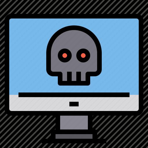 computer, crime, security, virus icon