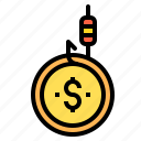 crime, fishing, money icon