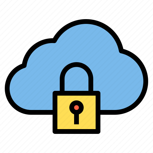 cloud, crime, data, defence, protection icon