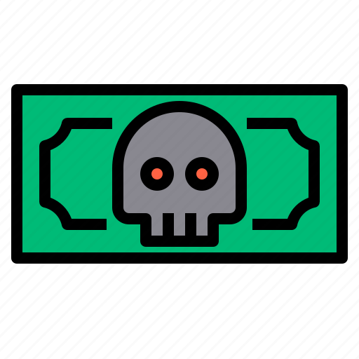 Crime, danger, money, skull icon - Download on Iconfinder