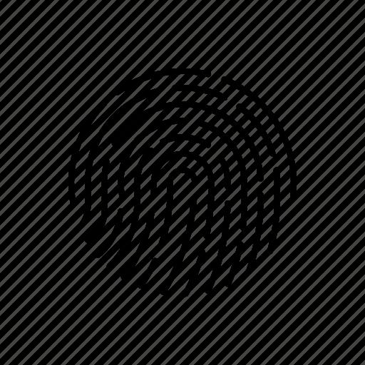 biometric, fingerprint, forensic, hacker, science, threat, thumbprint icon