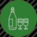 anniversary, champagne, glass, wine icon