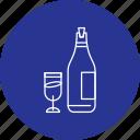 anniversary, champagne, glass, wine