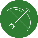 archery, arrow, bow icon