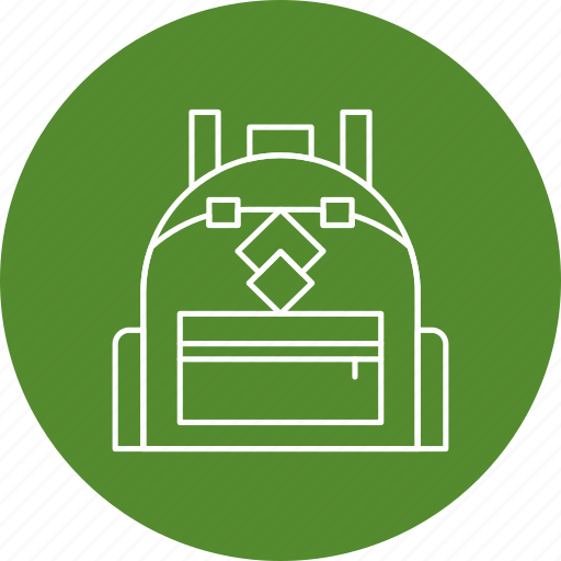 backpack, bag, school, travel icon
