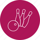 ball, bowling, pin icon