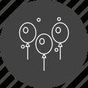 balloon, balloons, event, festive icon