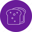 bread, food, loaf, sliced icon