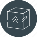 box, broken, corrupt, damage, file