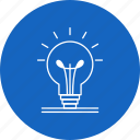 bulb, light, tips icon