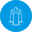 candle, candles, decoration, fire, flame icon