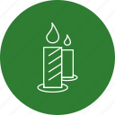 candle, halloween, wax icon