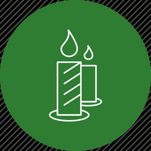 candle, halloween, wax icon