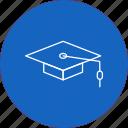 cap, graduate, graduation icon