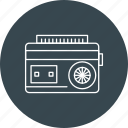 audio, cassette, player, radio icon