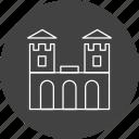 amusement, building, castle, fairground, scarousel, security, tower