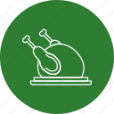 chicken, food, turkey icon
