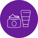 bottles, container, cream, facial, ja, lotion icon
