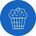 brownie, cake, cupcake, dessert, sweets icon