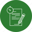 document, file, history, note, report, time icon