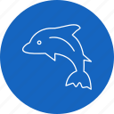 animal, dolphin, nature, sea icon