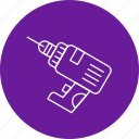 drill, perforator, power, tool icon
