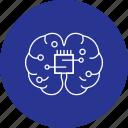 brain, chip, creativity, head, mind icon