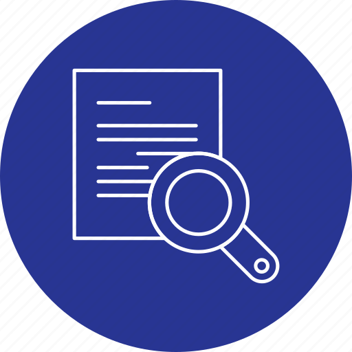 business, document, earch, file, search icon