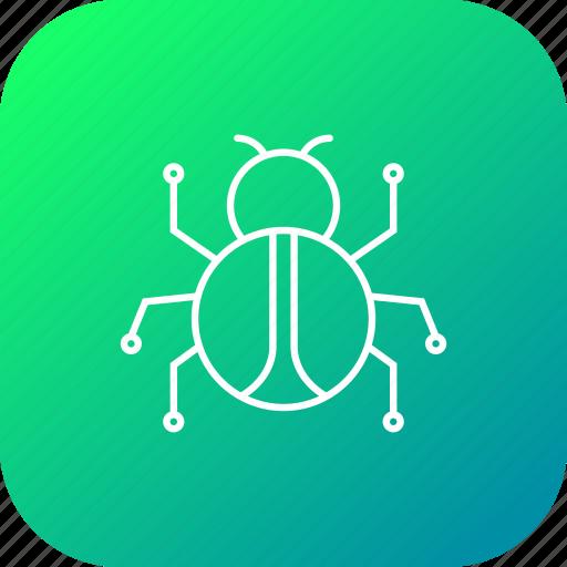 attack, bug, connection, crime, mlware, spam, virus icon