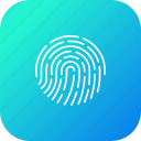 biometric, fingerprint, forensic, proof, science, threat, thumbprint icon