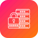 database, lock, management, protection, safe, secure icon