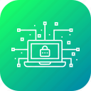 cyber, data, hack, leak, lock, network, secure icon