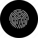 biometric, fingerprint, forensic, hacker, proof, threat, thumbprint icon