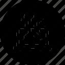 cyber, data, digital, lost, security, threat icon