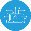 cyber, data, device, leak, lock, network, secure icon