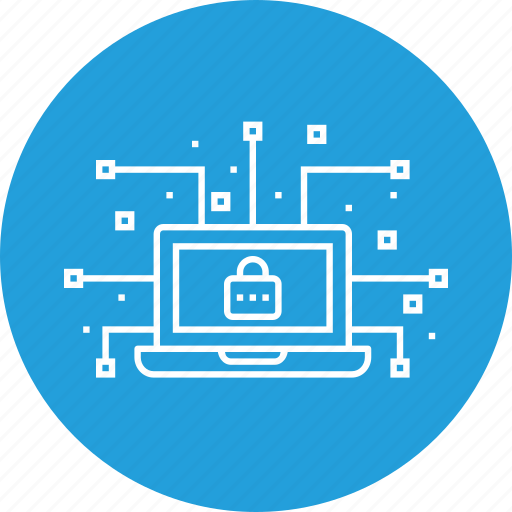 cyber, data, device, leak, lock, network, secure icon