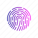 biometric, fingerprint, forensic, hacker, science, threat, thumbprint icon