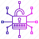 crime, cyber, lock, network, otp, security, threats icon