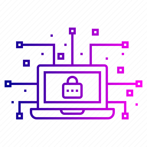 cyber, data, hack, leak, lock, network, secure icon