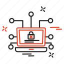 crime, cyber, internet, locked icon