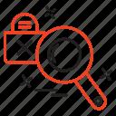 crime, cyber, internet, search icon