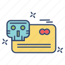 card, credit, crime, cyber, internet icon