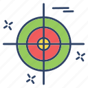 crime, cyber, internet, target icon