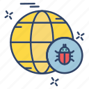 bug, crime, cyber, internet, world icon