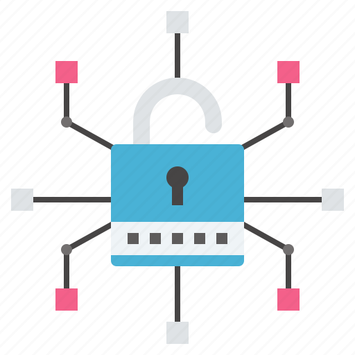 crime, cyber, lock, network, otp, threats, unsecure icon