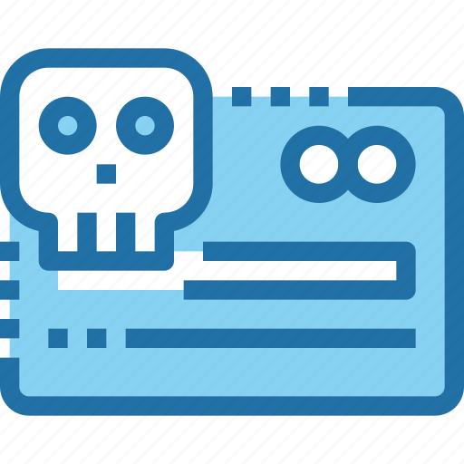Card, credit, crime, hack, payment, security, skull icon - Download on Iconfinder